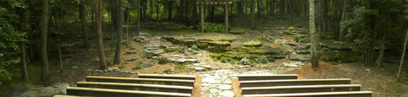 outdoor venue in the forest